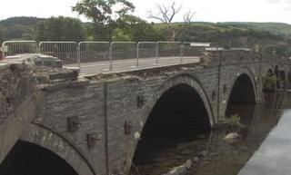 The damage to Dyfi Bridge