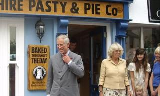 Prince Charles and the Duchess of Cornwall in Tenby