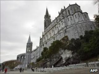 Basilica Notre-Dame du Rosaire in Lourdes, southern France (file image)