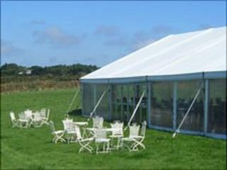 Sueco marquee on Icart headland