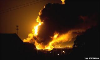 Fire at Garforth waste site