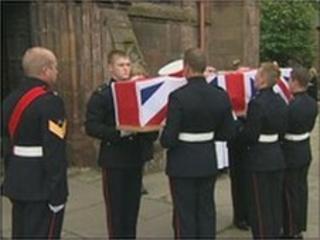 Funeral of Steven Birdsall