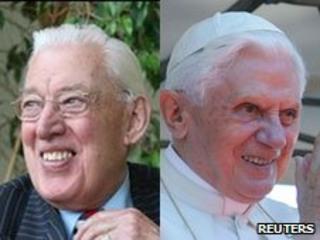 Ian Paisley and Pope Benedict XVI