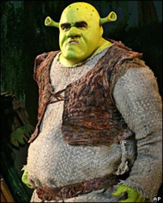 Brian d'Arcy James as Shrek on Broadway