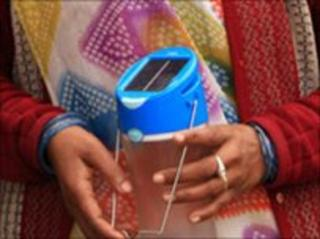 A D Light Design solar lamp