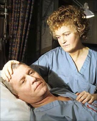 Megan (Brenda Fricker) and Charlie in Casualty