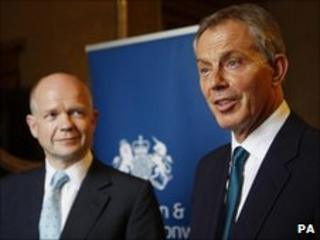 William Hague and Tony Blair