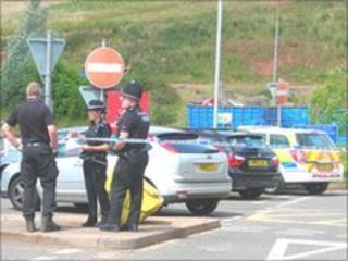 Police cordon at Granville Recycling Centre