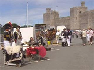 The Armed Forces Day event was in the shadow of Caernarfon Castle