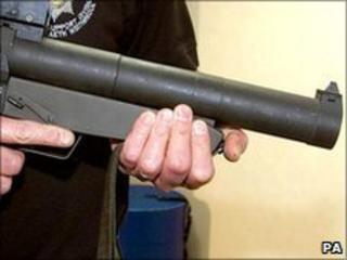 A baton gun