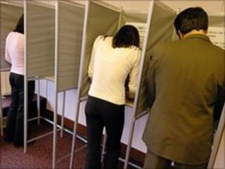 Polling booths