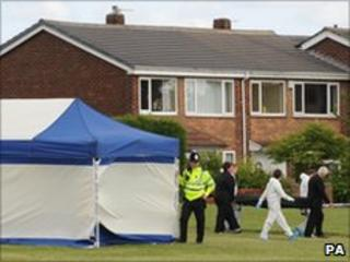 Shooting scene in Birtley, Tyneside