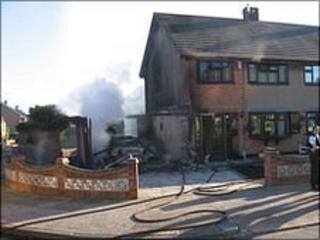 Fire at garage (pic courtesy Essex Fire and Rescue)