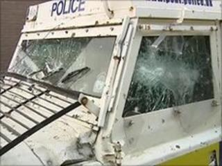 Damaged Land Rover