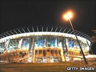 Royal Bafokeng football stadium in Rustenburg, South Africa