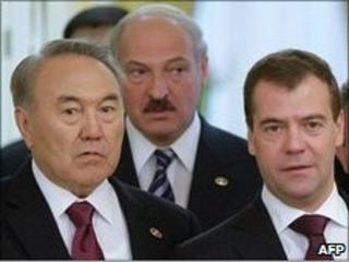 The Presidents of Kazakhstan, Belarus and Russia