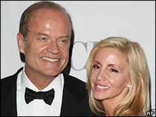 Kelsey Grammer with wife Camille