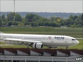 Iran Air passenger jet at Paris-Orly airport (file image)