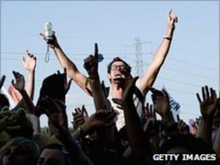 Glastonbury fans