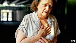 A heart attack victim