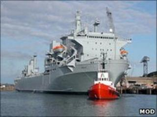 RFA Argus: Pic Royal Navy