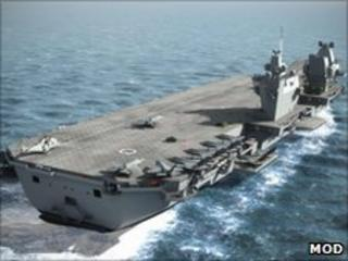 Computer-generated image of new aircraft carrier Prince of Wales