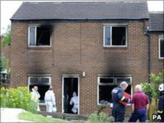 Scene of Bradford fire