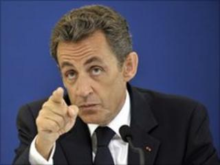 Nicolas Sarkozy, 6 July 2010