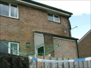 Body find scene at Prince Philip Road, Launceston, Cornwall