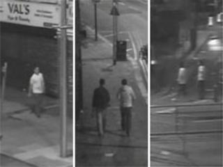 The three CCTV images issued by police
