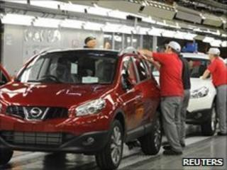 Nissan car workers
