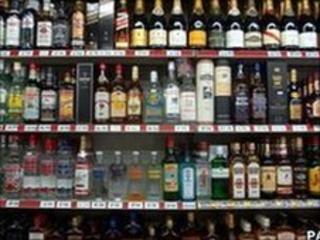 Drink on shelves