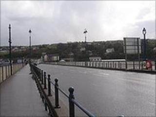 The attack happened as the boy walked across Craigavon bridge