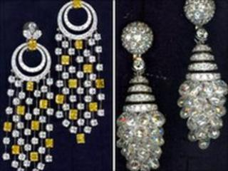 Items of jewellery stolen from Graff