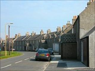 Street on Stronsay. Photo courtsey of Undiscovered Scotland