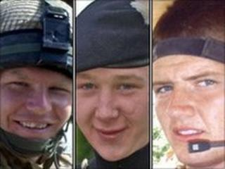 (From left) Lance Corporal James Fullarton, Fusilier Simon Annis and Fusilier Louis Carter