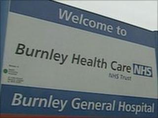 Burnley hospital sign