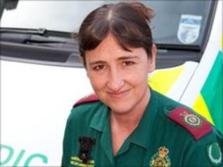 Paramedic Paula Jeffery who is based in Tenby
