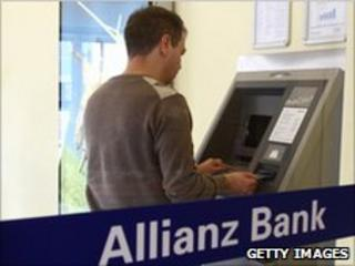 Allianz Bank ATM in Berlin - file pic
