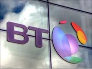 BT logo on building