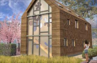 Artist impression of Flower House