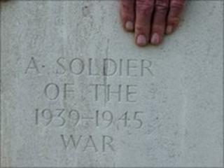 One of the graves of the unknown soldier in France