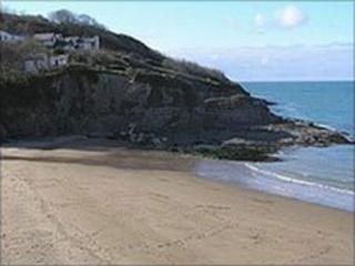 Aberporth beach (library picture)