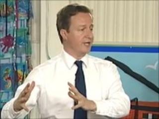 David Cameron in Cornwall