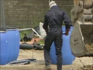 Explosives expert at scene