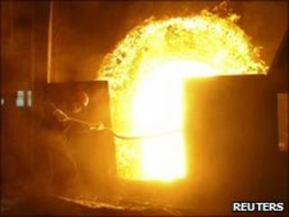Steel worker in Hefei, China. File pic