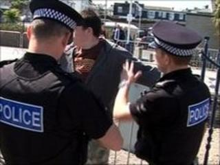 Police at Newquay