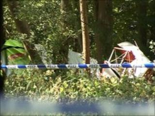 Crashed plane in Rotherfield Greys