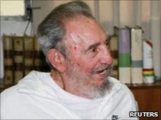 Former Cuban leader Fidel Castro in Havana on 7 July 2010