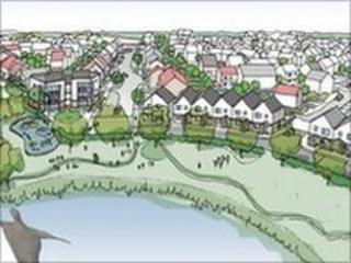 An artist's impression of the new homes